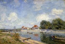 Le-Barrage-de-Saint-Mammes-1885-Alfred-Sisley